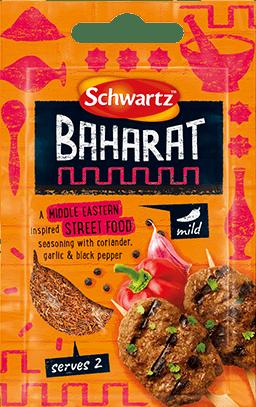 Orange pack shot of Baharat Street Food Seasoning