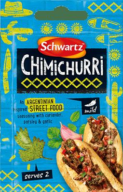 Blue Pack shot of Chimichurri Street Food Seasoning