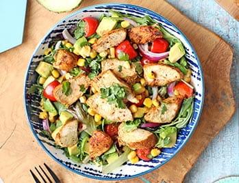 Grilled Peruvian Chicken Salad Bowl