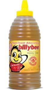 Miel blanc liquide (grande bouteille pressable en forme de ruche)
