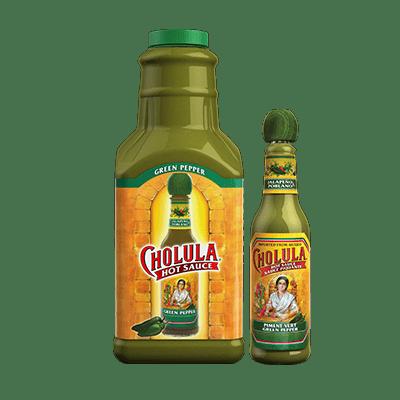 Cholula green pepper hot sauce