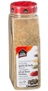 Garlic and Herb, No Salt Added