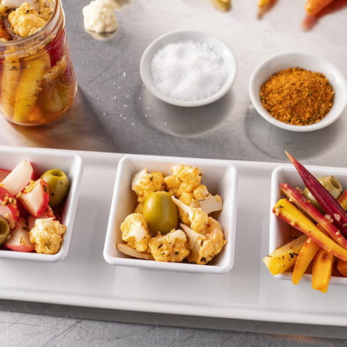 Fiery Habanero and Roasted Garlic Pickled Vegetables