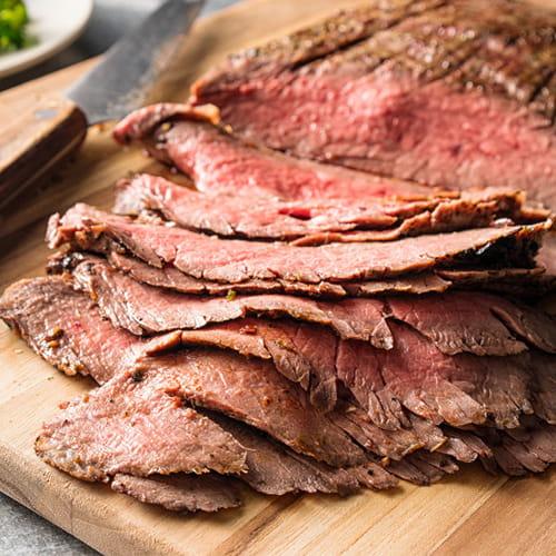 Argentinean Grilled Flank Steak with Black Bean Vinaigrette