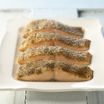 Baked Crusted Salmon