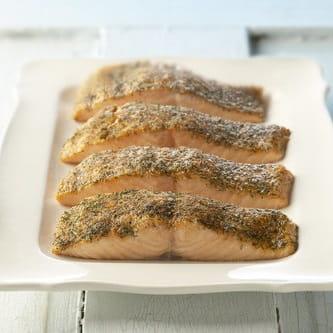 Old Bay Crusted Salmon