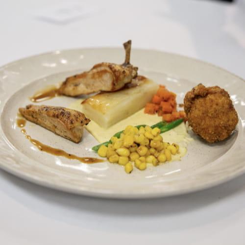 Suprême de poulet de Cornouailles BBQ style brésilien
