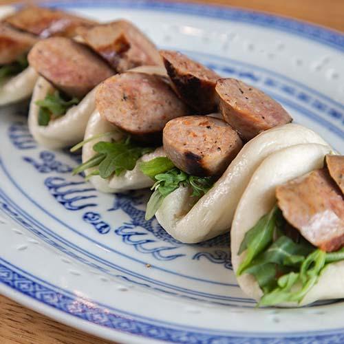 Brazilian BBQ Spiced Pork Sausage with Mustard Pickled Apple - Recipe