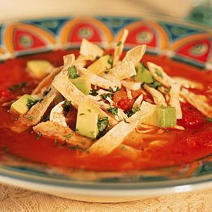 Soupe tortilla au poulet à la Cajun