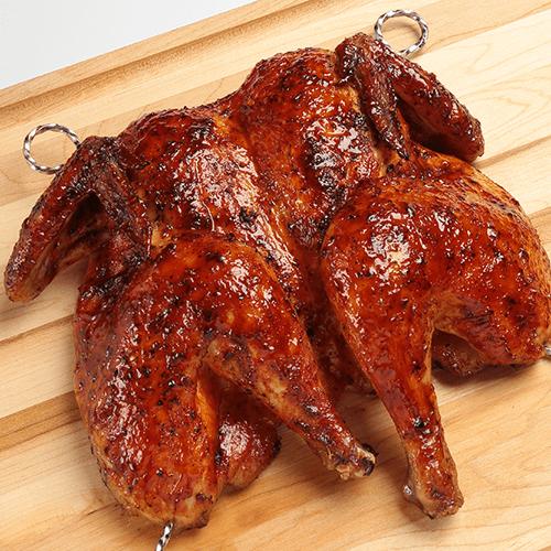 Smoked Applewood Bourbon Spatchcock Chicken