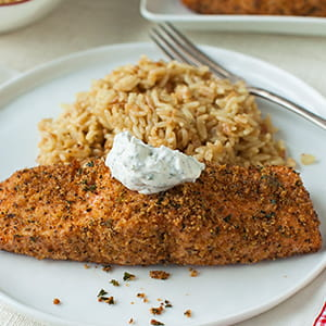 Cheddar Panko Breaded Salmon - Recipe