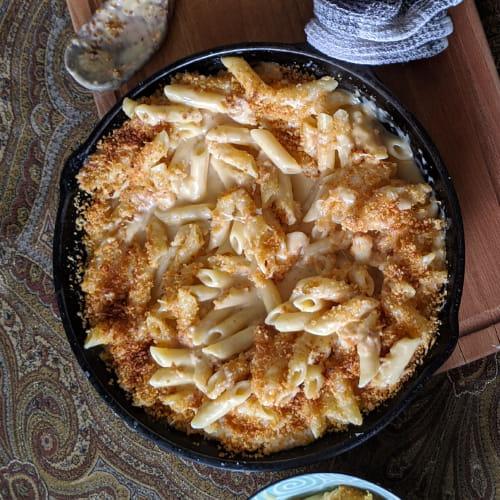 Macaroni au fromage fumé au cèdre
