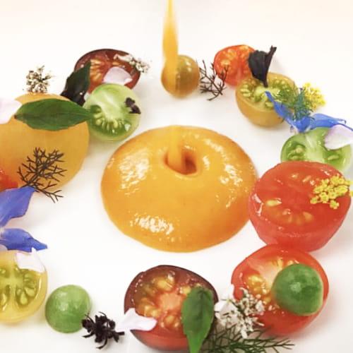 Soupe aux tomates et fenouil rôtis du jardin