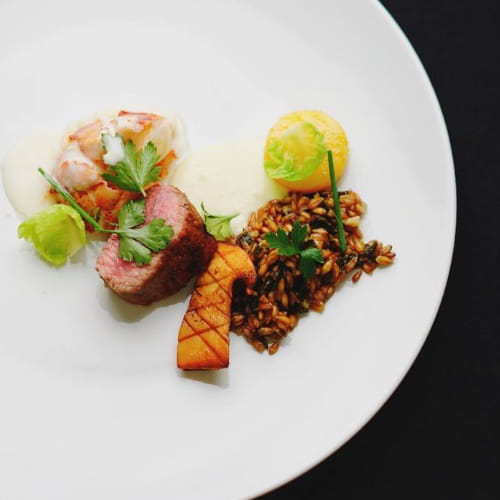 East Coast Lobster and Lamb, Garden Fennel, Toasted Farro, Herb and Buttermilk Velouté