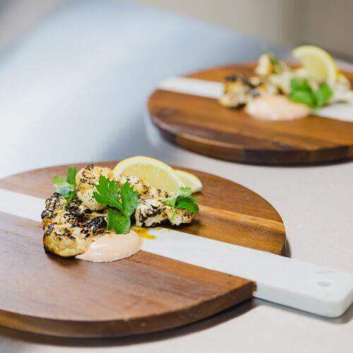 Grilled Cauliflower Steaks with Paprika Cream - Recipe