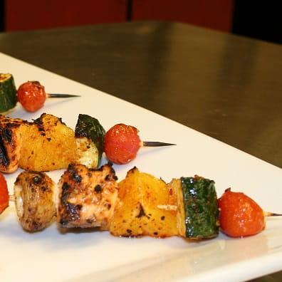 Brochettes de saumon et agrumes
