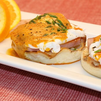 Eggs Benedict with Smoked Paprika Hollandaise