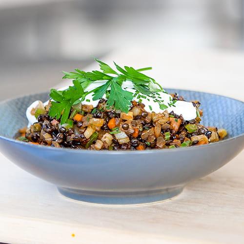 Braised Beluga Lentils & Fennel