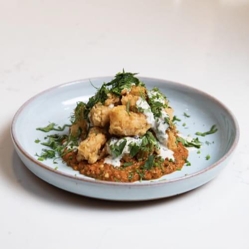 Fiery Habanero and Roasted Garlic Popcorn Shrimp - Recipe