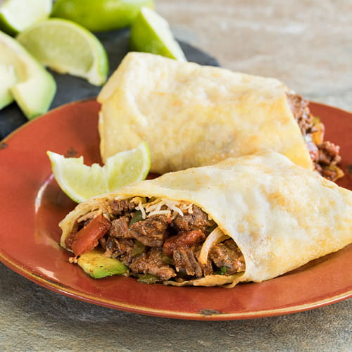 Flavour Forecast Asian Egg Crepes With Hatch Chile Fajita Filling