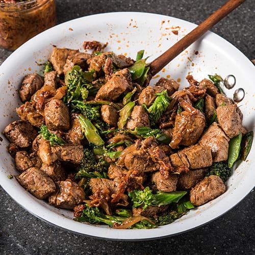Pork and Broccolini Stir Fry with Italian Style XO Sauce - Recipe