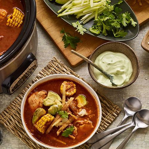 Puebla Hot Pot Broth with Avocado Crema