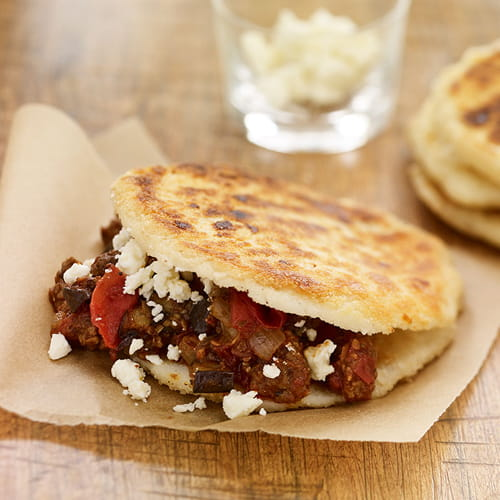 South American Arepas with Easy Greek Moussaka - Recipe