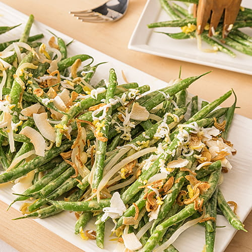 French Green Beans with Coconut Green Curry - Recipe