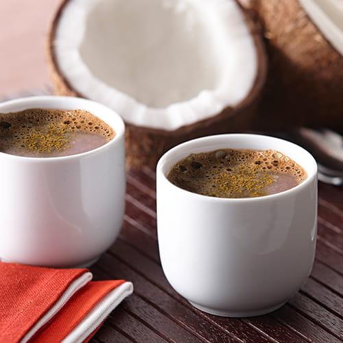Chocolat chaud épicé à la noix de coco