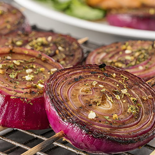 Grilled Balsamic Onion Lollypops