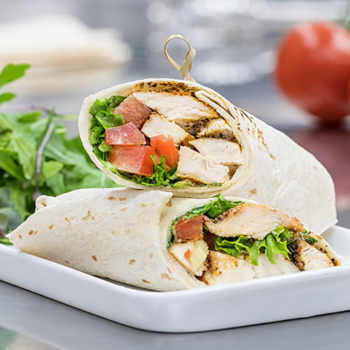 Montreal Grilled Chicken Wraps