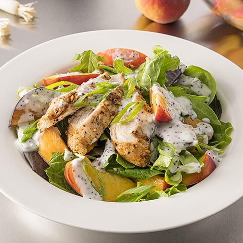 Salade de dindon et de pêche
