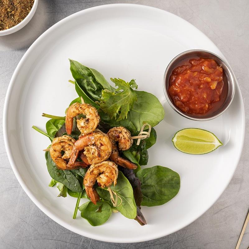 Caribbean Garlic Lime Shrimp Skewers - Recipe