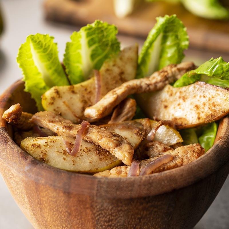 Salade de porc aux Cinq épices chinoises et poires