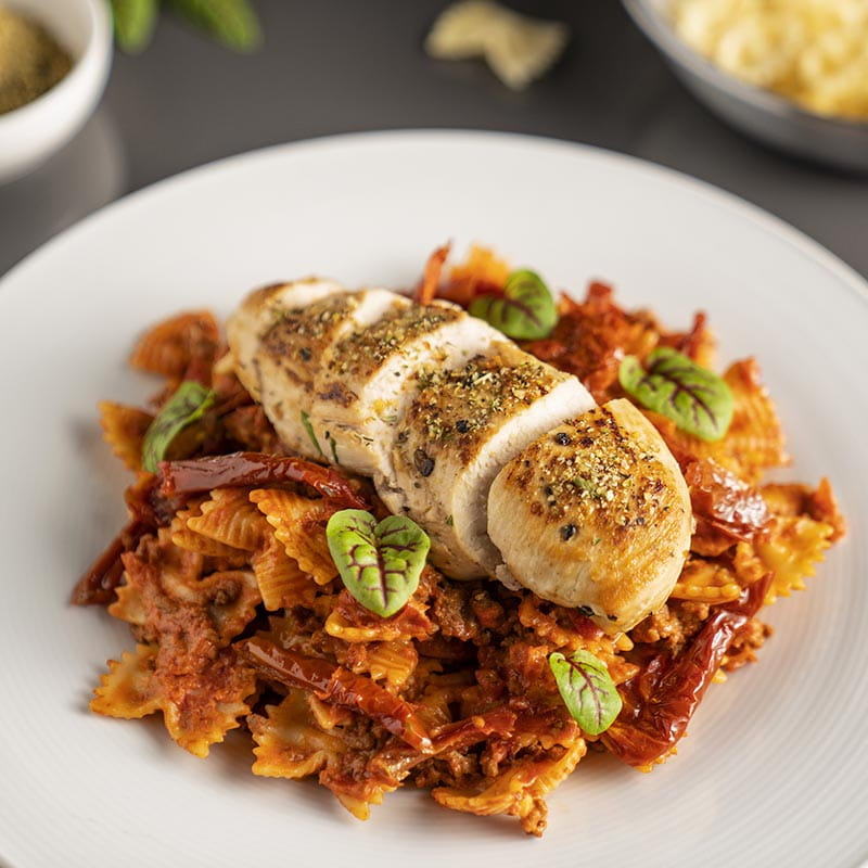 Farfelle with Chicken and Sun-Dried Tomatoes