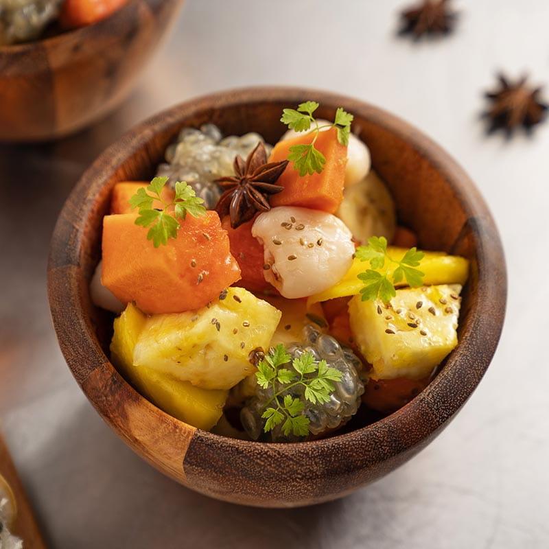 Hot Exotic Fruit Salad