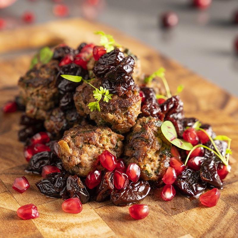 Kebab Karaz Lamb with Sour Cherries and Pomegranate