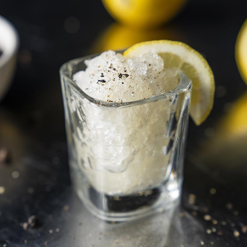 Lemon and Cracked Black Pepper Granita