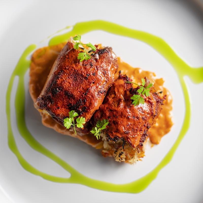 Ballotine de cuisses de poulet tandoori farcies