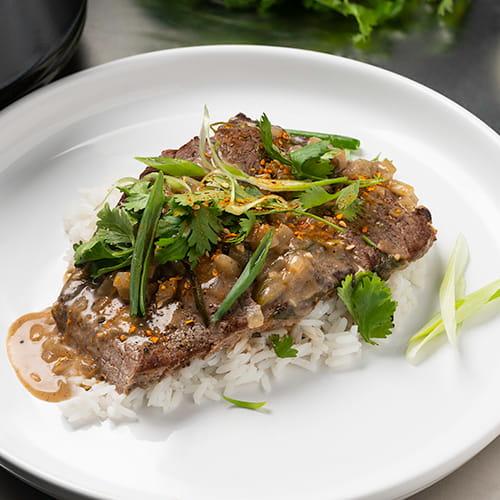 Korean Style BBQ Beef Braised in Coconut Milk
