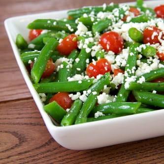 Salade de haricots verts au fromage féta