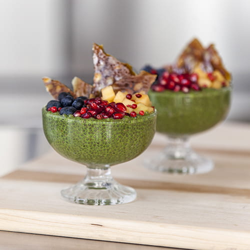 Festive Matcha and Chia Parfait