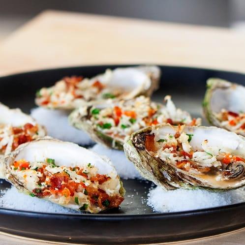 Oyster Cauliflower Oreganato and Sriracha Vinaigrette - Recipe