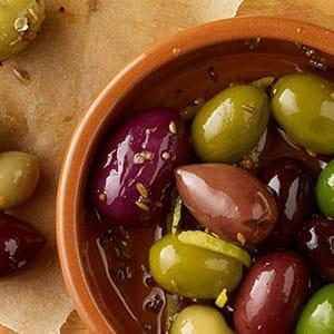 Olives marinées au cumin et à la coriandre
