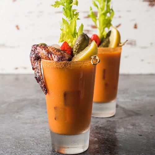 Bloody Mary aux carottes et à la sauce BBQ Carolina Or
