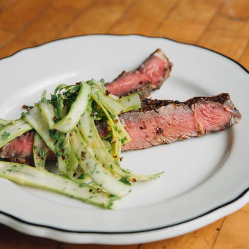 Mushroom Rubbed Beef, Quinoa & Asparagus