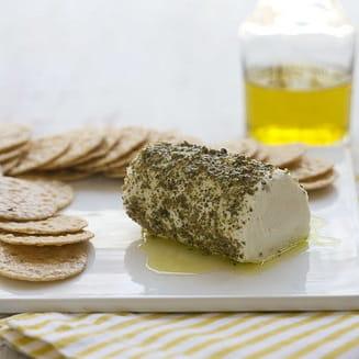 Tartinade au mélange de grains de poivre et fromage de chèvre