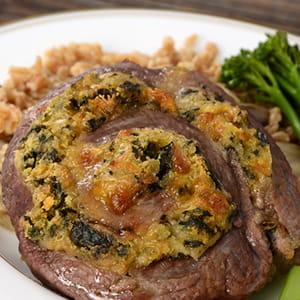 Goat Cheese Stuffed Pinwheel Flank Steak