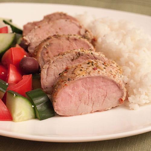 Greek Style Pork Tenderloin
