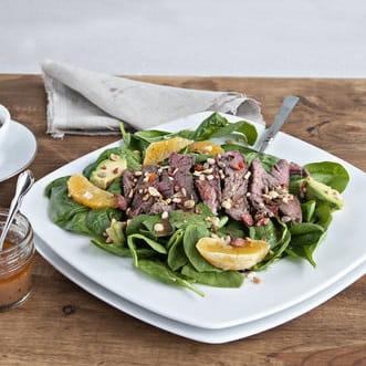 Salade de boeuf poêlé